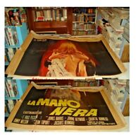 LA MANO NERA manifesto 4F originale 1970 MAX PECAS