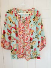 Anthropologie Fig and Flower Top, EUC, NWT, Medium, Pretty Paisley/Floral