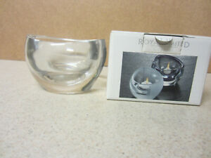 Crystal Votive Candle Holder  Royal Limited Czech Repub Czechoslovakia with box