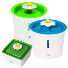 Catit Cat & Kitten Flower Fountains Drinking Water Pet & Spare Filter Media