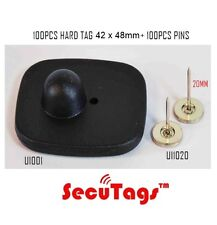 Mini Square Hard Tag 100Pcs 8.2Mhz Eas Anti-Theft Security + 20Mm Pins