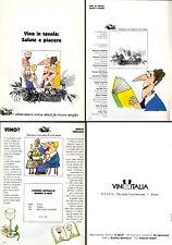 Opuscolo Ministeriale 90s-Vignette VINO IN TAVOLA-produzione consumo salute bere