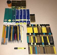 Huge Lot Vintage Mechanical Pencils & Leads Pentel +++