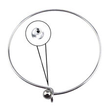 5PCS 2.6inch Wire Blank Cuff Silver Bangle Bracelet for Kid Girl Jewelry Making