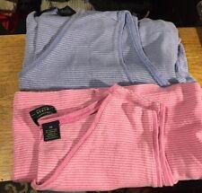 Two Sleeveless V-Neck Striped Sonoma Brand Ladies Tops