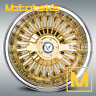 13X7 WIRE WHEELS 72 SPOKE 4PC SET GOLD WHEELS RIMS W/ ZENITH STYLE KNOCK OFFS