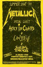 Metallica, Alice In Chains, Candlebox, Suicidal Tendencies vintage flyer 1994