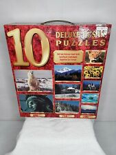 New 10 Full Size Deluxe Jigsaw Puzzles 2250 Total Pieces Factory Sealed