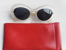 Occhiali da sole forma ovale style retro' Kurt Cobain colore bianco opalino