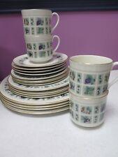 Royal Doulton Tapestry Set 20pc Dinner Plates, Dessert, Salad, saucers, Cups