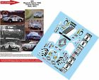 DECALS 1/43 REF 493 ALPINE RENAULT A110 THERIER RAC RALLY 1973 RALLYE