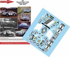 DECALS 1/18 REF 493 ALPINE RENAULT A110 THERIER RAC RALLY 1973 RALLYE WRC