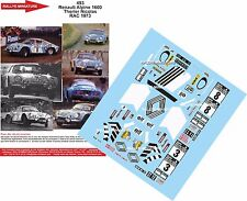 DECALS 1/32 REF 493 ALPINE RENAULT A110 THERIER RAC RALLY 1973 RALLYE WRC
