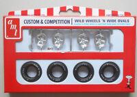 Wild Wheels & Wide Ovals Tire Wheel AMT 1:25 CAR MODEL ACCESSORY PP020