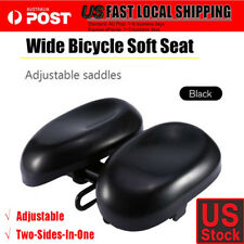 Bike Bicycle Comfort Wide Big Bum Soft Pad Saddle Seat Gel Cruiser Extra Sporty