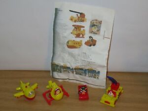 Vintage McDonalds Collectable toys:Airport. Full Set. 1995. Rare