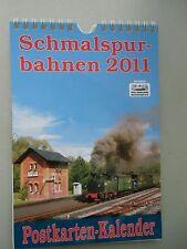 Schmalspurbahnen 2011 Postkarten-Kalender Schmalspurbahn Eisenbahn Kalender