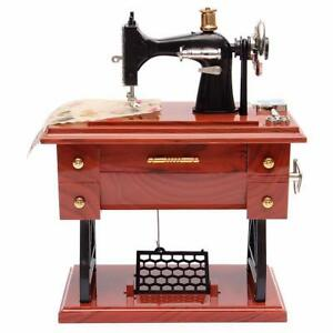 Sewing Machine Featherweight Music Box Vintage Singer Case Cabinet Accessories