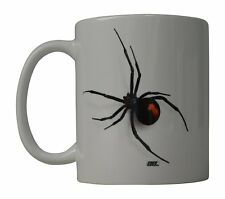 Funny Coffee Mug Scary Realistic Black Widow Spider Novelty Cup Great Gift