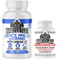 Monster Testosterone Mens Booster Set,Male Enhancement,Stamina + Bonus Sex Pills