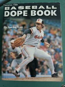 Baseball Dope Book The Sporting News 1980 Official National League