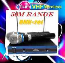 BRAND NEW BNK 50M RANGE PROFESSIONAL DUAL VHF WIRELESS MICROPHONE_