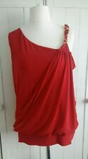 Red assymetrical cross over Size 16
