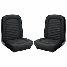 1966 - 1967 Ford Bronco Replacement Seat Upholstery - Front Buckets, Black
