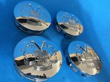 RARE SET OF 4 VOGUE TYRES CUSTOM WHEEL CHROME CENTER CAP 89-9371 70321875F-2