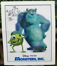"""Disney Pixar Monsters Inc Poster Signed by Director Pete Docter Matted 32""""wx39""""h"""