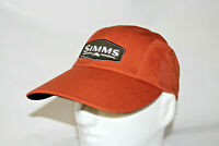 Simms Fly Fishing Double Haul Long Bill Adjustable Cap Hat in Simms Orange OSFM