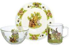 Russian Winnie-The-Pooh Dinner Set for Children (Plate, Bowl, Mug) Dinnerware