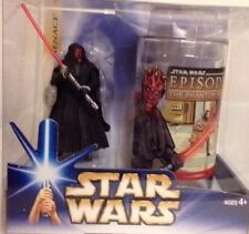 Star Wars Target Exclusive The Phantom Menace Darth Maul Figure & Cup/Glass MINT