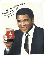 Muhammad Ali Cologne Ad Advertisement Preprinted Personalized Autograph