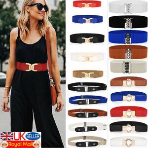 Women Ladies Wide Fashion Belt Girls Black Cinch Waist Belt Elastic Stretch Gift