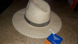 NEW $41 Mens Columbia PFG Bonehead Straw Hat, size S/M