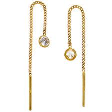 Ohrschmuck aus Edelsteinen mit Zirkon-Perlen und Durchzieher-Verschluss