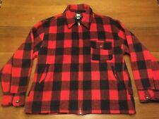 Size 46 Vintage Woolrich 574 Buffalo Plaid Zipper Macinaw Jacket