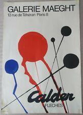 CALDER ALEXANDER affiche originale lithographie exposition 1968