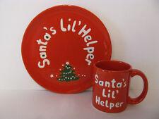 Santa's Lil' Helper 2pc Snack Set Waechtersbach Christmas Tree German Stoneware