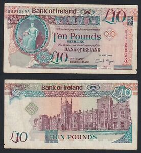 Irlanda del Nord 10 pounds 2005 BB/VF  A-10