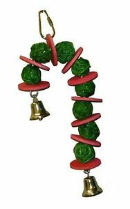 Super Bird Creations 10 by 4-Inch Vine Ball Candy Cane Bird Toy, Small