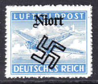 GERMANY MC1a NIORT OVERPRINT OG NH U/M VF BEAUTIFUL GUM