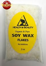 SOY WAX FLAKES ORGANIC VEGAN by H&B Oils Center FOR CANDLE MAKING 100% PURE 2 OZ