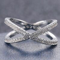 Infinity 925 Silver Wedding Rings Women Jewelry White Sapphire Rings Size 6-10