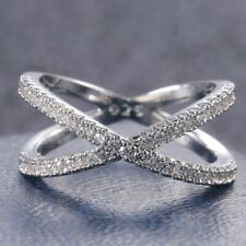 Infinity 925 Silver Wedding Rings Women Jewelry White Sapphire Rings Size 8