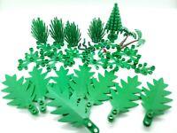 LEGO FOLIAGE TREES BUSHES PLANTS FLOWERS LOT ASSORTED LANDSCAPING DECORATION