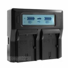 LCD Dual Battery Charger For Sony NP-FW50 A5000 A6000 RX10 A7 A7R NEX-5T/5R/6/7