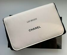CHANEL COSMETIC/MAKEUP BAG POUCH CLUTCH BEIGE WITH MIRROR RARE VIP GIFT