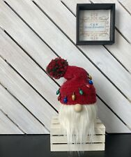 New ListingHoliday Lights Christmas Handcrafted Gnome